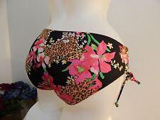 Victoria's Secret Sz XS Forever Sexy Side tie Bikini bottoms Floral Animal print