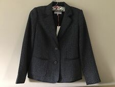 Kew 159 ladies navy spotted wool blend blazer sz XS BNWT