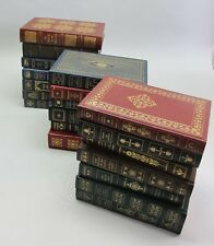 Collection of 20 Never Read LEATHER BOUND FRANKLIN LIBRARY BOOKS