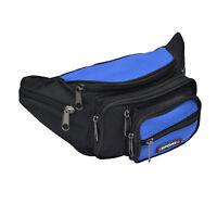 8 Fächer Bauchtasche hellblau Gürteltasche Hüfttasche Angeltasche Tasche