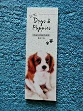 Beautiful Dogs & Puppies Small Bookmark Calendar 2020 Tear-off pages each month!