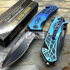 TAC-FORCE Blue Spider Hunting Survival Camping Rescue Pocket Knife TF-553BL