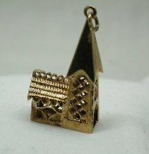 Heavy 9ct Gold Large Church Charm