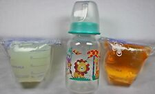Reborn Bottle Fake Formula Milk & Bag Faux Apple Juice Baby OOAK Doll Set