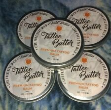 Lot of (5) WILD WILLIES TATTOO BUTTER Premium Tattoo Balm Butter 2 oz. Organic