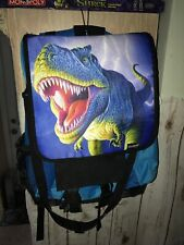 Dinosaur Backpack T Rex Blue and Black Kidaroo  Lightening Removable cover EUC