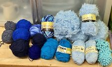 Knitting Yarn-Lot-720g-Blues-Coats-Wendy-Cotton-Fancy-Chunky-Spinning-Crafts-5O