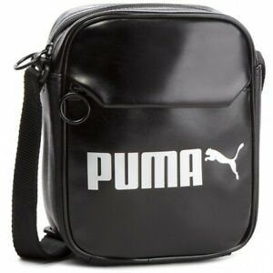 Puma Adults Unisex Campus Cross-Body Bag Black 3 Compartment One Size: 075004 01