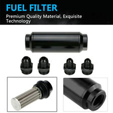 44mm Car Fuel Filter Inlet Outlet Flow Filter With 2 AN8 & 2 AN6 adaptors N2G6
