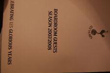 SPURS 125 YEARS V MIDDLESBROUGH  BOARDROOM GUEST BOOKLET