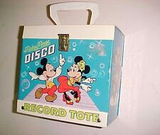 Walt Disney Music Mickey and Minnie Mouse Disco 45s Vintage Record Tote Box