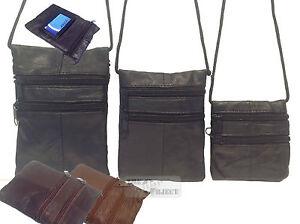 Real Leather Neck Purse Bag Shoulder Small Mini Medium Cross Body Travel Cord ID