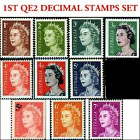 Australian 1966 SET 1st QE2 Decimal Stamps 10x Queen Elizabeth Royal issues
