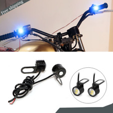 2x Motorcycle White LED Headlight Spotlight Driving Daytime Running Light Lamp