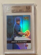 2000 Bowman's Best Johan Santana RC Autograph #ed 2999 graded BGS 9.5 Gem Mint