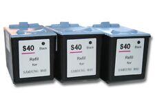 3x XXL CARTOUCHE ENCRE imprimante Noir pour Samsung INK-M40 SF330, SF331