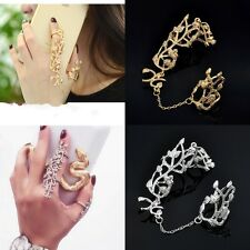 Luxury Full Finger Armor Knuckle Joint Punk Long Ring Women Fashion Jewelry Gift