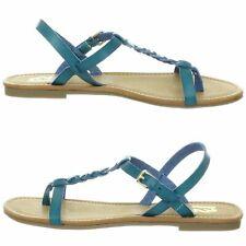 R2 Footwear Womens Size 7.5 Blue Cayman T-Strap Sandals Open Toe Braided Slip On