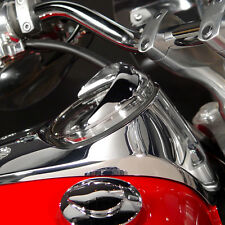 YAMAHA VSTAR 1300 ALL MODELS 2007 THRU 2015  CHROME SPEEDOMETER VISOR