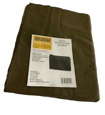 OUTBACK OLIVE DRAB 85% Wool Blanket 157 x 203cm MILITARY Camping EMERGENCY CADET