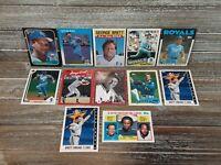 George Brett 12 Card Lot! Fleer, Donruss, Upper Deck, Topps, Score! All Star!