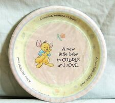 "~WINNIE THE POOH~ BABY ROO  8-SMALL PINK  PAPER  PLATES 6-3/4""   PARTY SUPPLIES"