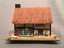 """Pauline Ralph Jewelry Music Box Thatched Antique Shop """"My Lady Greensleeves"""""""