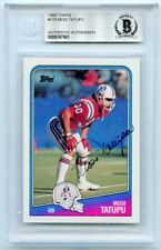 Mosi Tatupu 1988 Topps Football Signed In Person Auto Patriots BAS AUTH LST715