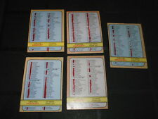 1972/73 O-PEE-CHEE NHL HOCKEY CHECK LIST CARD LOT CARDS OPC