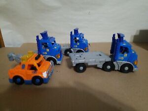 Lot of 3 Fisher Price Imaginext City Big Rigs Action Tech Rescue City Center