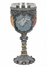 "Game of Thrones House Sigils 7"" Stainless Steel Resin Wine Goblet"