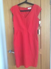 Calvin Klein Ladies Linen Dress Red lined UK 10 BNWT