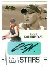 "ANNA KOURNIKOVA ""CENTER COURT STARS AUTOGRAPH CARD CC4"" ACE GRAND SLAM 2006"