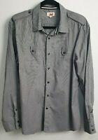 Jag Men's Grey Long Sleeve Shirt Size L