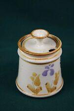 Tosch art pottery lidded jar - sugar, jam, honey