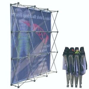 8x10, Only Graphics with END CAP for Tension Fabric Backdrop Pop Up Frame Stand