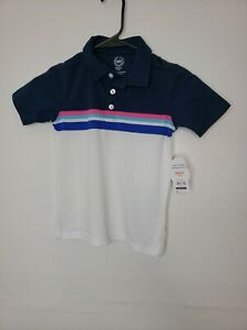 New Wonder Nation Boys Shirt XS 4 5 Polo Striped Color Block School Clothes