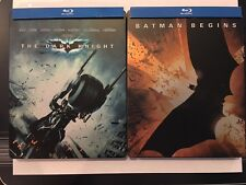 Batman Begins / The Dark Knight [Blu-ray Disc/s, Ultraviolet] Steelbook