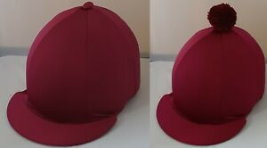 RIDING HAT COVER - BURGUNDY