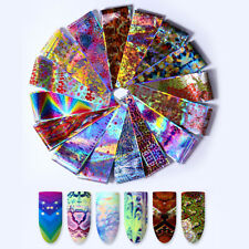 16x Holographic Animail Nail Foils Laser Flower Snake Nail Art Transfer Stickers