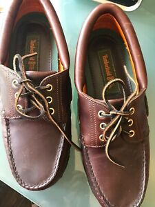 Timberland ACT Brown Men's 9.5 M Leather Loafers Shoes