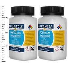 Potassium Hydroxide 8 Oz Total 2 Bottles Food Grade Fine Flakes Usa Seller