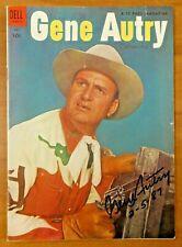 Gene Autry Vintage Signed Comic Book with JSA COA