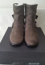 Giuseppe Zanotti Design Women's Suede Buckle Up Ankle Boots Shoes US 7.5 IT 37.5
