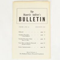 The Dianetic Auditor's Bulletin Vol 1 NOS 1-2 Scientology L Ron Hubbard 1950