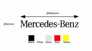 Mercedes Benz Merc Logo Sticker Decal Badge
