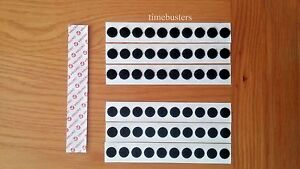 Velcro 30 Hook And 30 Loop Sticky Dots/Coins/Discs Black Size 13mm Self Adhesive