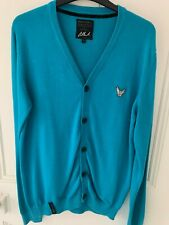 Mens long sleeve blue/green cardigan size small- very good condition