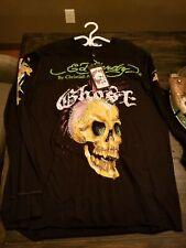 Ed Hardy Ghost Man Rhinestone Henley XXL NWT