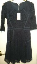 Monsoon Lily Lace Navy Blue Fit And Flare Dress Size 12 Bnwt Floral